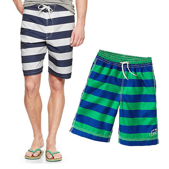 Your favorite father-son duo can show that they've earned their stripes in Gap's Rugby Board Shorts for grown-ups ($40) and little kids alike ($20).