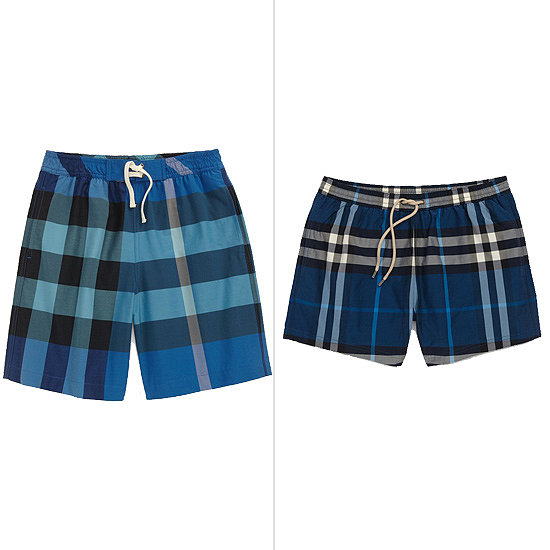 Your little luxury-lover can strut his stuff in Burberry's Mini Check Pocket Swim Shorts ($60) alongside dad in his coordinating Brinn Check Swim Trunks ($175, originally $250).