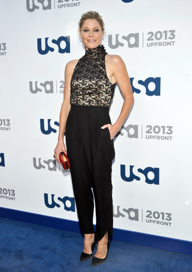 If you want a chic cocktail-ready look that walks the line of the unexpected, we can't help but think this Camilla and Marc lace jumpsuit ($350, originally $699) that Julie Bowen wore to this year's upfronts would be perfect.