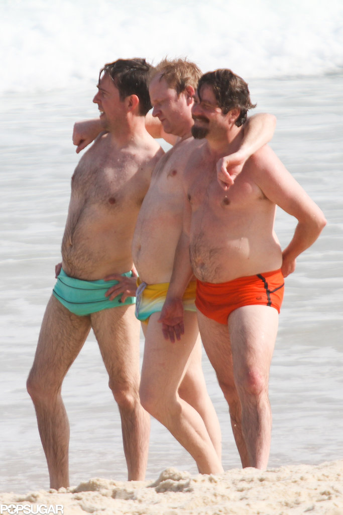 Ed Helms and Zach Galifianakis posed on Ipanema Beach.