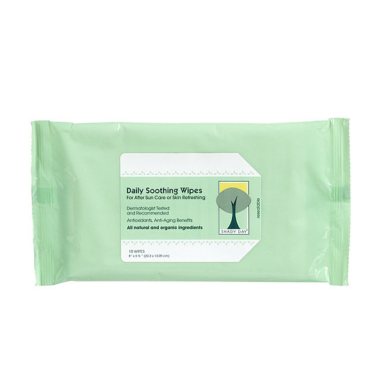 Parched skin needs a definite pick-me-up after sun exposure, and Shady Day's Daily Soothing Wipes ($8) are the perfect remedy. The resealable wipe pouch  makes them clutch for your gym bag, while vitamins A, C, and E, and organic aloe vera restore your skin to peak perfection. — MD