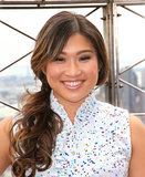 Too-tight ponytails can put pressure on your hair and your head, so try this looser look, seen on Jenna Ushkowitz at the Empire State Building.