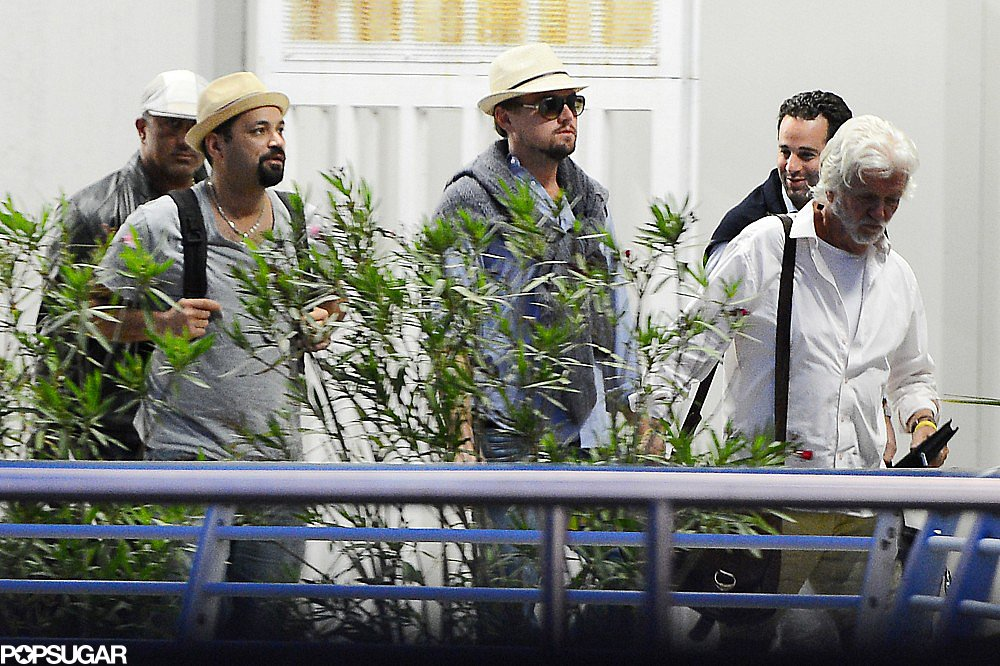 Leonardo DiCaprio got away to Venice, Italy, with a group of friends.