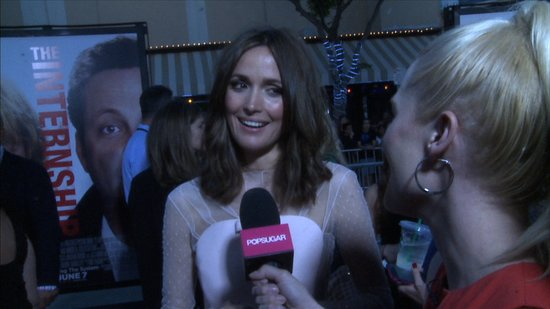 "Rose Byrne Talks Teaming With the ""Lovely"" Vince Vaughn and Owen Wilson"