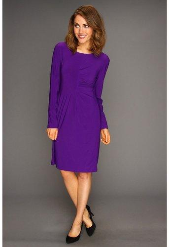 Christin Michaels - Vicky Dress (Purple) - Apparel