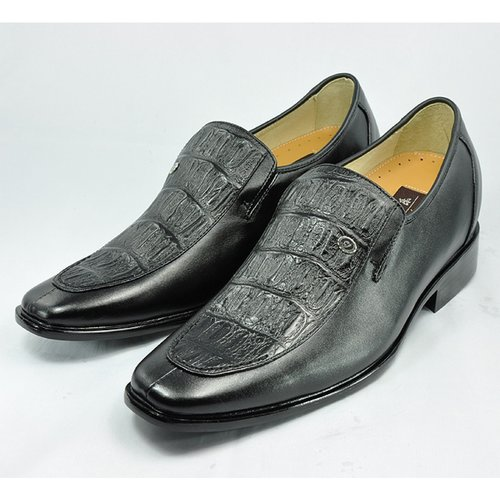 Cheap Black men height dress shoes grow taller 7cm / 2.75inches on Sale at Topoutshoes.com