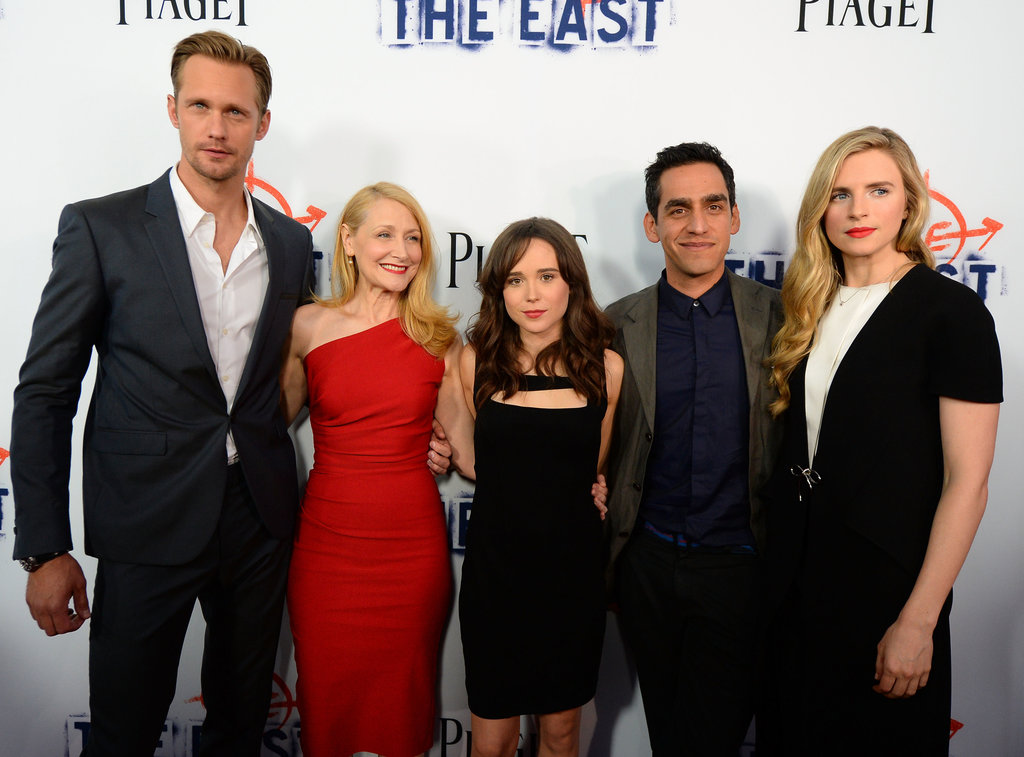 Alexander Skarsgard, Patricia Clarkson, Ellen Page, and Brit Marling posed for photos with director Zal Batmanglij.