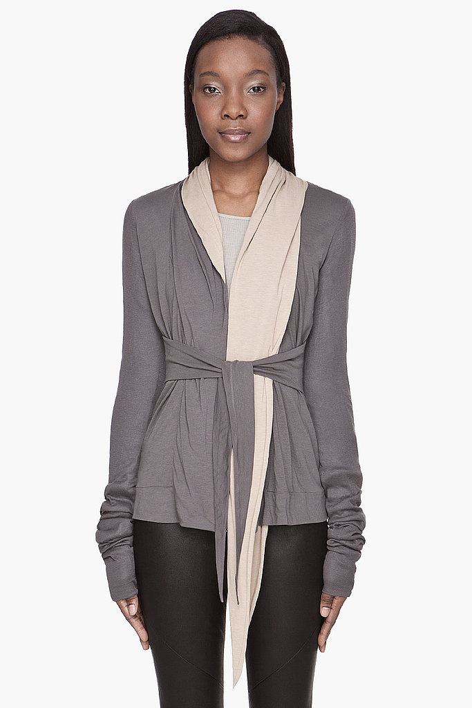 The smart traveler will throw a lightweight cardigan in the bag should your destination's forecast change in a flash. The fabric composition of this Rick Owens wrap ($670) makes it anti-wrinkle and pro-suitcase.
