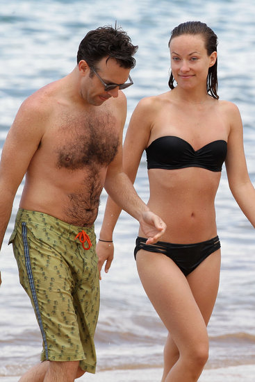 Olivia Wilde and Jason Sudeikis hit the beach on Tuesday.