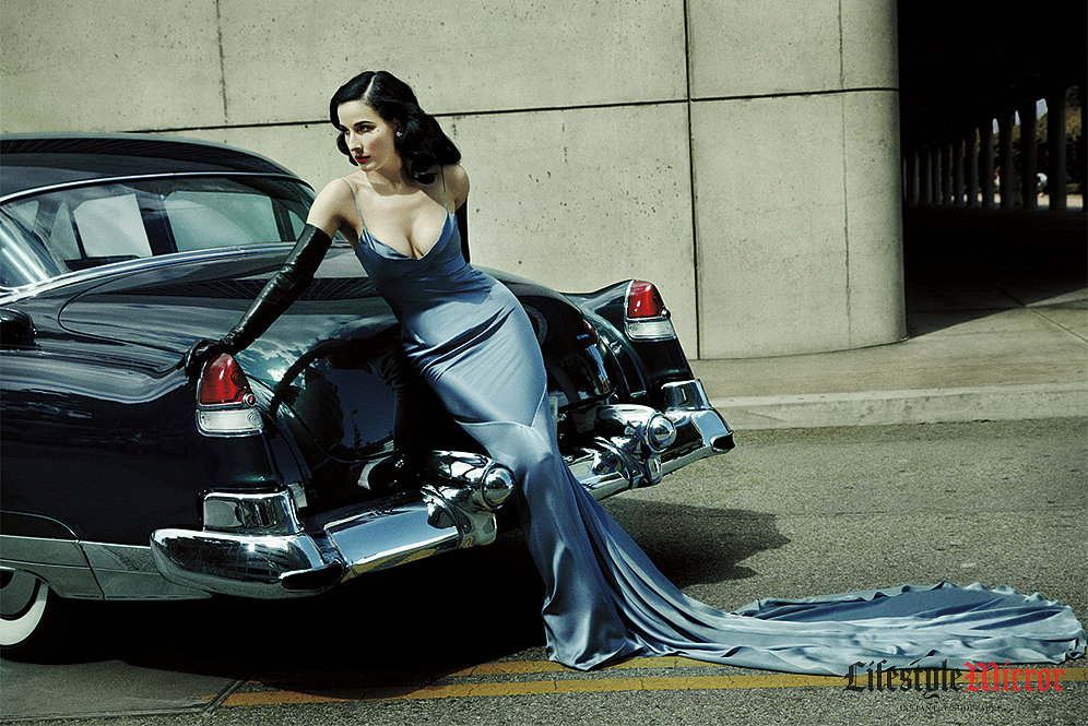 """I don't claim to be naturally beautiful. It's about self-creation and personal empowerment through the creation of glamour,"" Dita Von Teese told Lifestyle Mirror in an exclusive interview."
