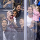 David and Harper Beckham on Kiss Cam | Video