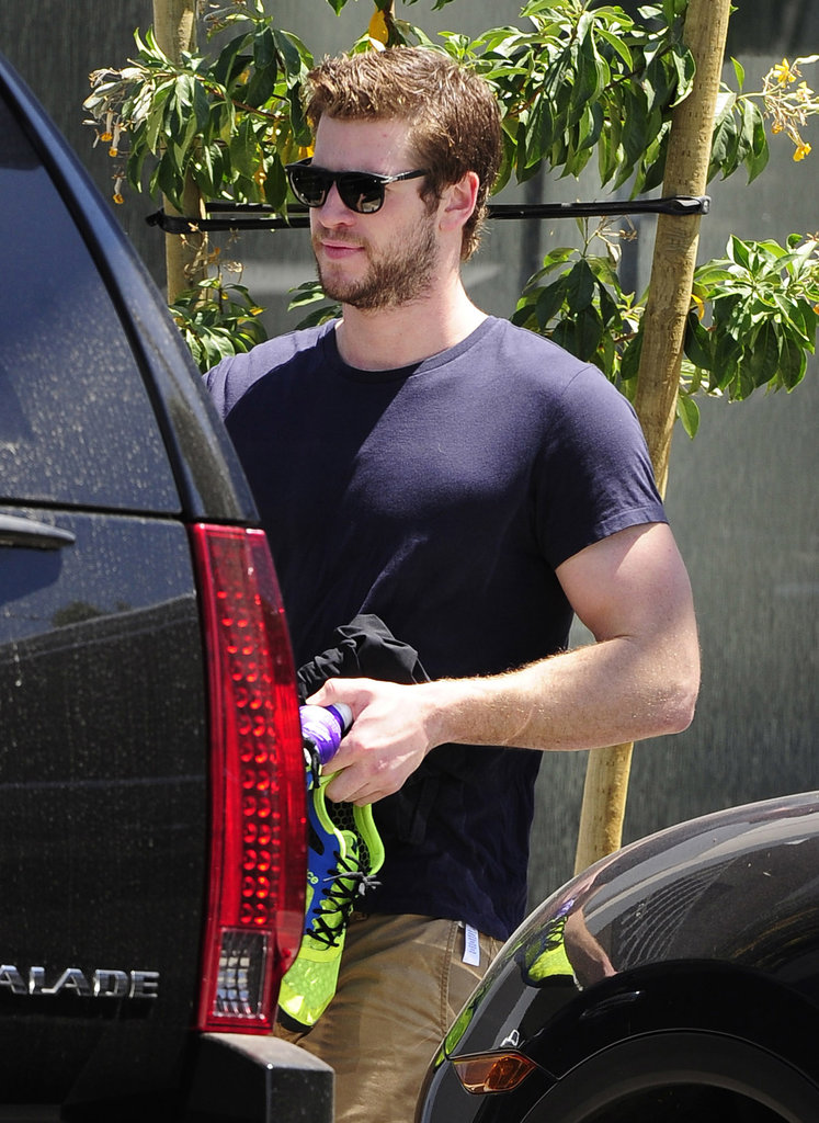 Liam Hemsworth was out in LA after rumors that he and Miley Cyrus have called off their engagement.