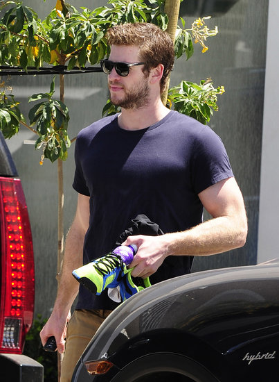 Liam Hemsworth made his way to his car in LA.