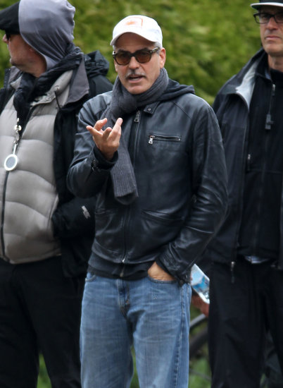 On Thursday, George Clooney directed his film The Monuments Men in Buckinghamshire, England.