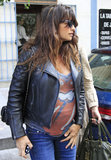 Penélope Cruz stepped out for a meal.