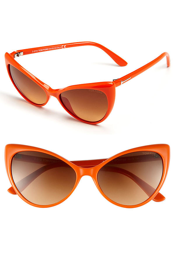 What's a day at the beach without a stunning pair of sunglasses? When you're out soaking up some sun, there's no better pair to sport than this one by Tom Ford ($360). The vibrant color and retro cat-eye shape will add that extra bit of style to your outfit.  — Robert Khederian
