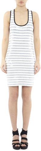 Katie Paillettes On Stripes Dress