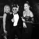 Hermione Underwood and Jesinta Campbell came across a Psy impersonator. Source: Instagram user jesinta_campbell