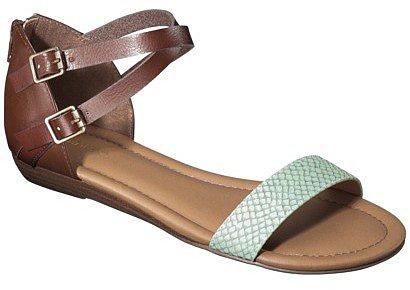 Women's Merona® Elba Silver Wedge Sandal with Back Counter - Mint