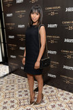 Kerry Washington wore a simple black number.