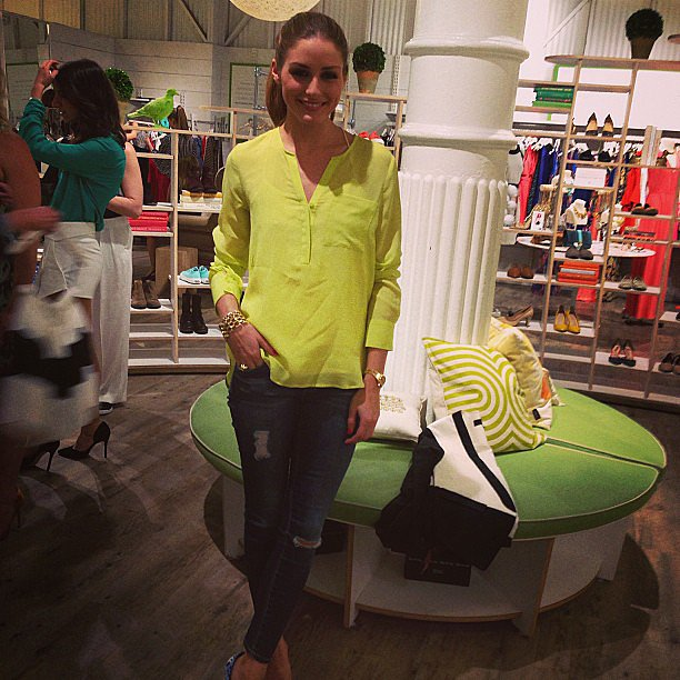 We caught up with the always-stylish Olivia Palermo at the Piperlime store in New York.