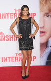 Another belle of the Internship ball? Jessica Szohr, who radiated in a chain-detailed Haute Hippie dress.