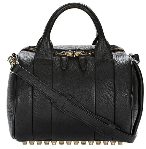 ALEXANDER WANG Rockie Bag In Black With Pale Gold Hardware