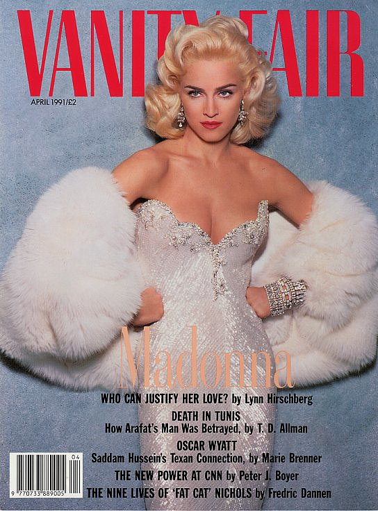 "One of the stars who has been influenced the most by Marilyn Monroe is Madonna — she struck a Marilyn-esque pose for the April 1991 cover of Vanity Fair and famously drew inspiration from an iconic scene in Gentlemen Prefer Blondes for her ""Material Girl"" video. Madonna explained her love for the actress in an interview with Rolling Stone in 1987, saying, ""I do feel something for Marilyn Monroe. A sympathy. Because in those days, you were really a slave to the whole Hollywood machinery, and unless you had the strength to pull yourself out of it, you were just trapped. I think she really didn't know what she was getting herself into and simply made herself vulnerable, and I feel a bond with that."""