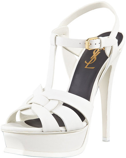 Saint Laurent's white Tribute platform sandals ($875) will give you height and major fashion clout. Not sold? They'll also look amazing with your favorite jeans long after you get hitched.