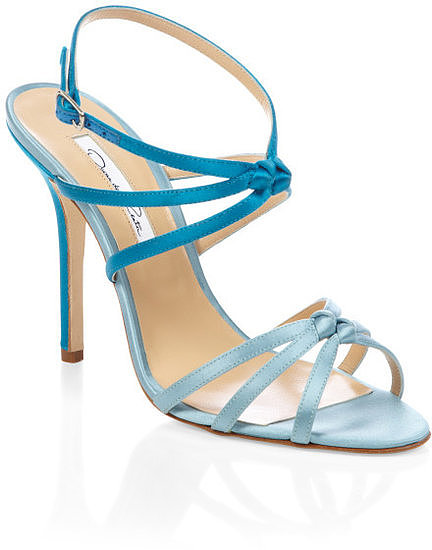 These Oscar de la Renta blue strappy heels ($625) are another fun way to add something blue to your wedding look. The dual shades make them stand out from all the other blue sandals on the block.