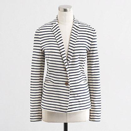 Factory stripe knit pocket blazer