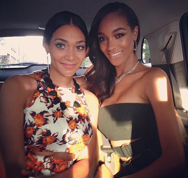 Jourdan Dunn and Monique Pean showed off their glamorous gowns on the way to tonight's festivities.  Source: Instagram user officialjdunn