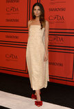 Lily Aldridge wore a dress from The Row for the CFDA Fashion Awards in NYC.