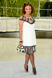 Diane von Furstenberg was a vision in an embellished white dress with just-sexy-enough cut-outs. Bow sandals added an adorable touch.