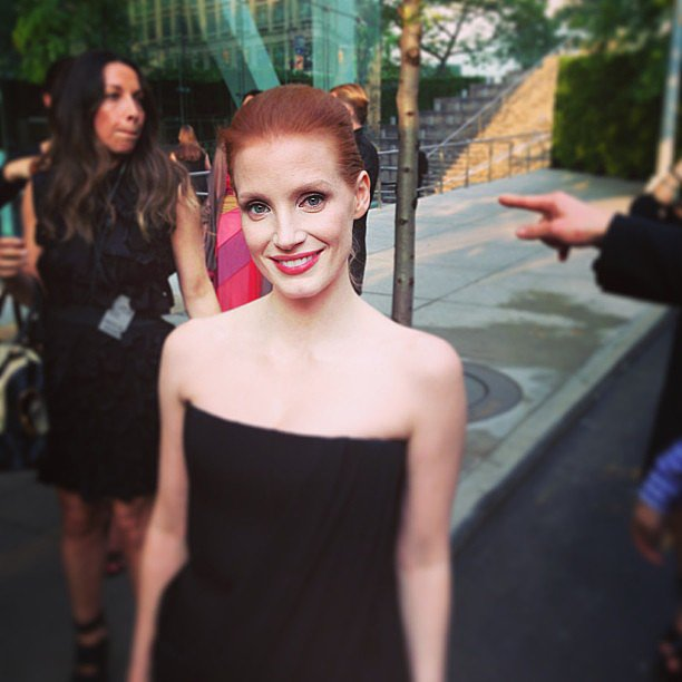 Jessica Chastain was glowing upon her arrival at the CFDA Fashion Awards. What is her secret? Source: Instagram user cfda