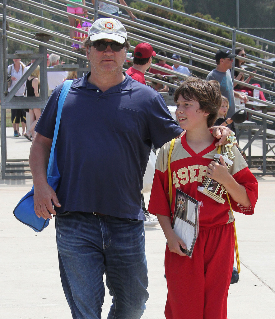 Jim Belushi watched his son Jared's football game on Saturday afternoon in LA.