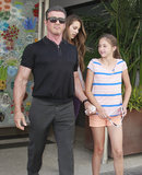 Sylvester Stallone and his daughters Sistine and Scarlet went to lunch in LA.