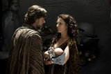 Russell Crowe and Ayelet Zurer in Man of Steel.