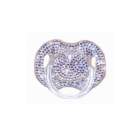 Bling out your babe with this glitzy rhinestone pacifier ($60).