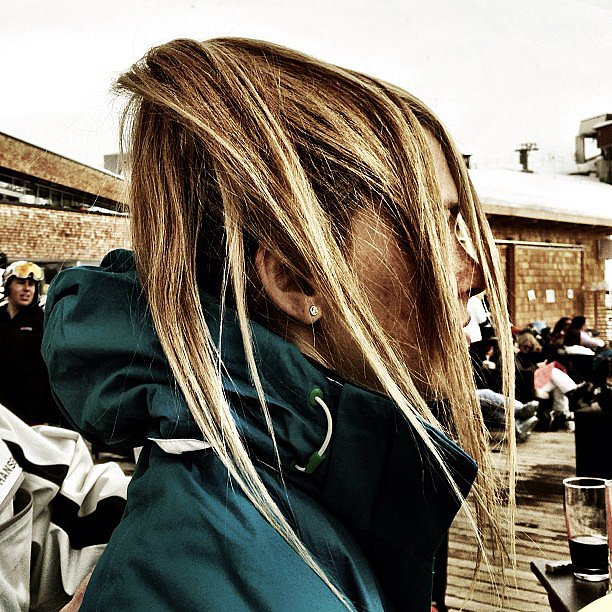 Bar's windblown ponytail looked even cooler thanks to those perfect highlights. Source: Instagram user barrefaeli