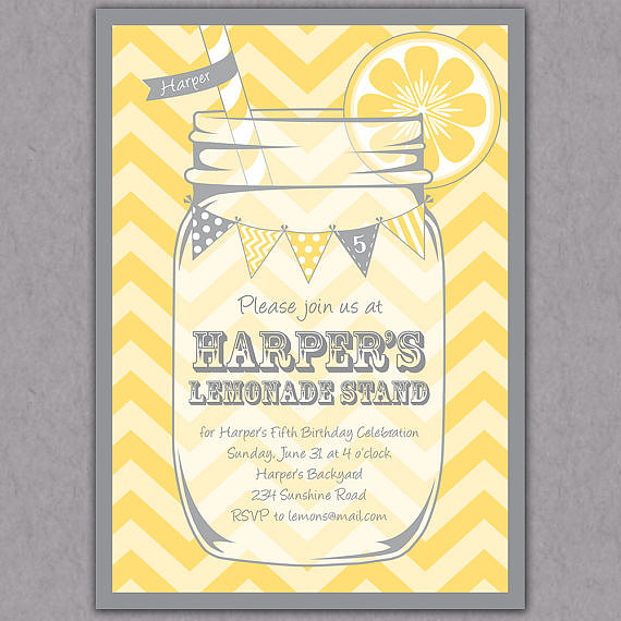 Printable Lemonade Invitations