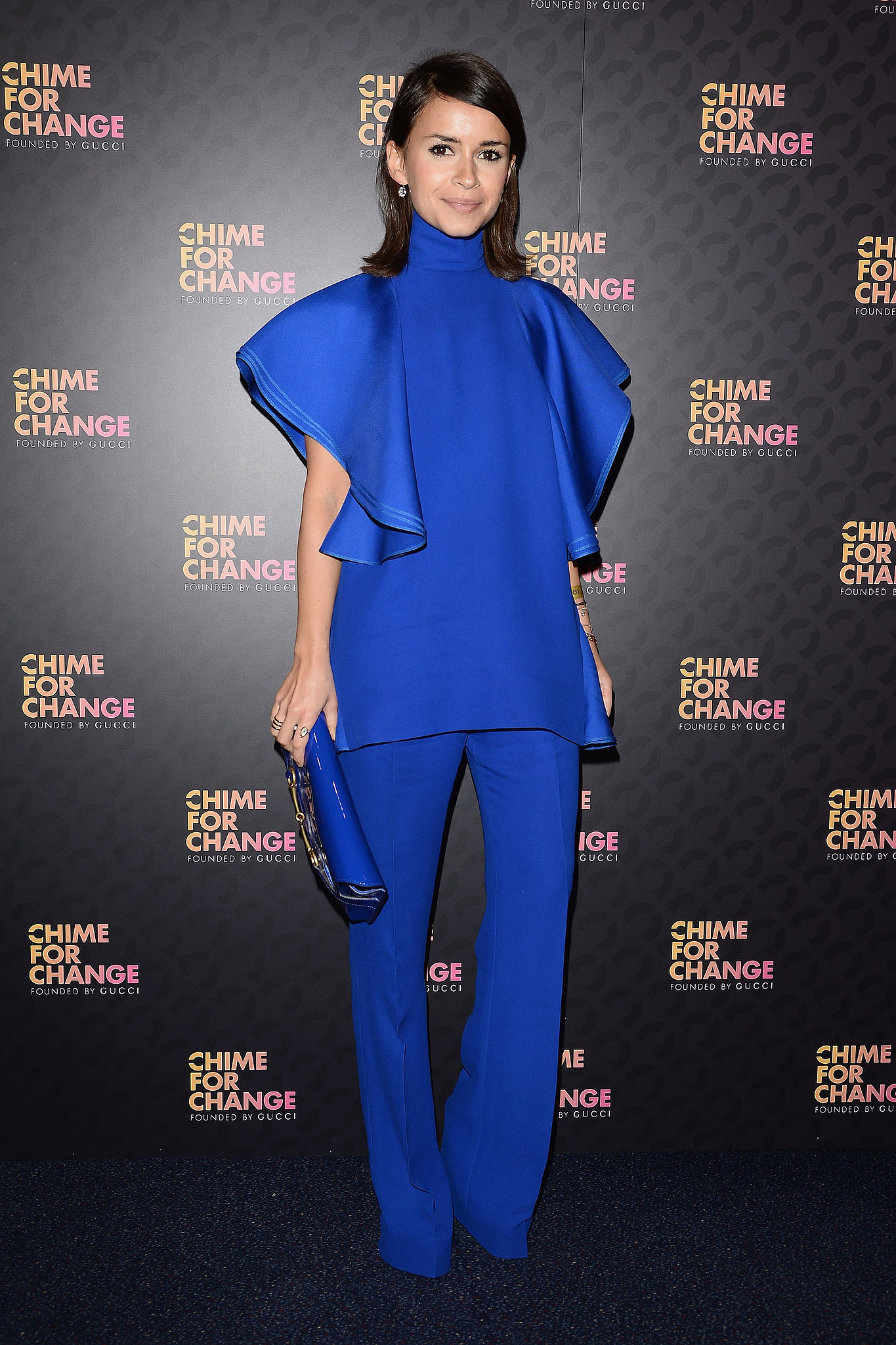 Miroslava Duma, in Gucci, at the Chime For Change: The Sound of Cha