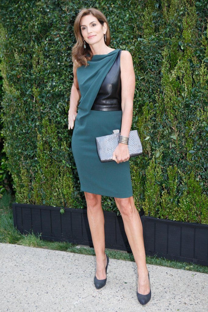 Cindy Crawford at the Natural Resources Defense Council's A Celebration of Art, Nature, and Technology dinner, hosted by Chanel. Source: Koury Angelo/BFAnyc.com