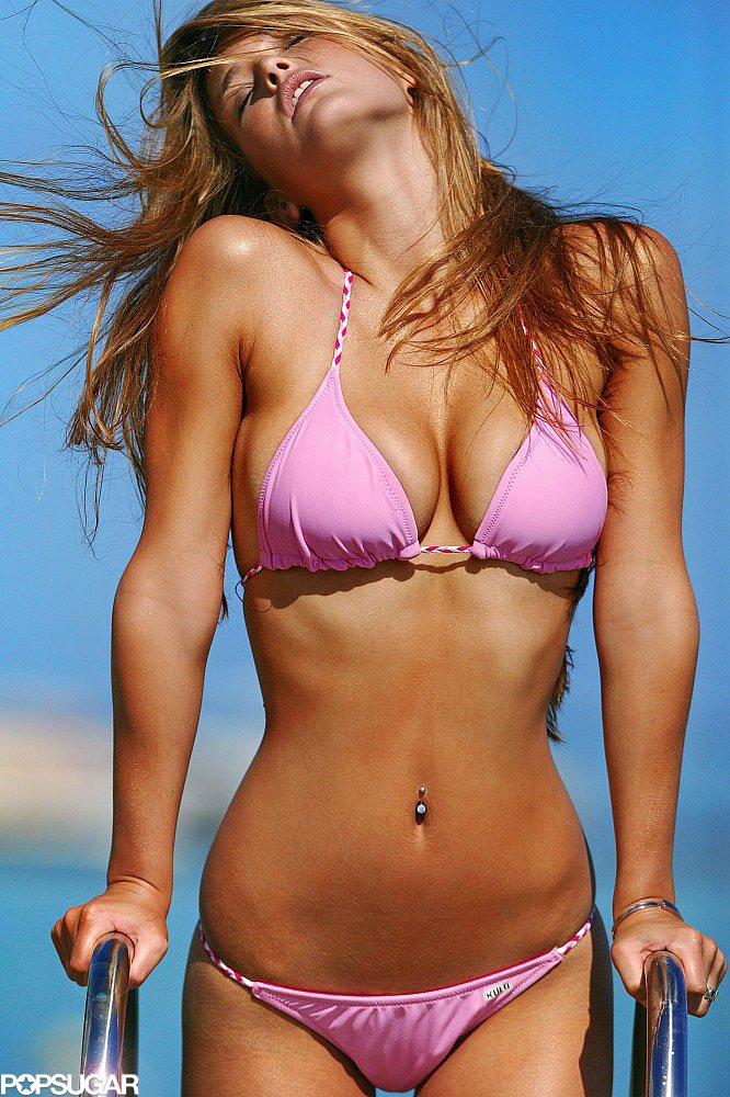 Bar Refaeli posed for a 2006 bikini photo shoot in Milan.
