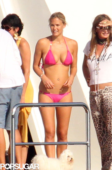 Bar Refaeli chilled on a yacht docked near Sardinia while vacationing in August of 2010.
