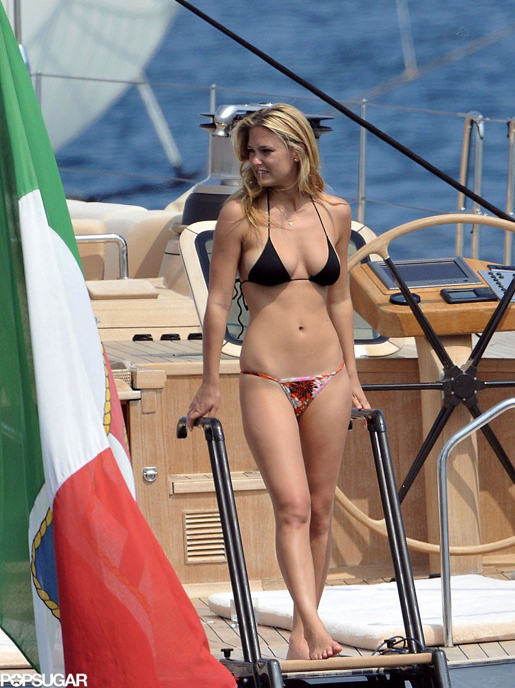 Bar Refaeli flaunted her famous assets on a boat in Cannes in May 2011.