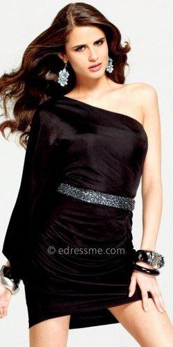 Draped Little Black Dresses by Faviana