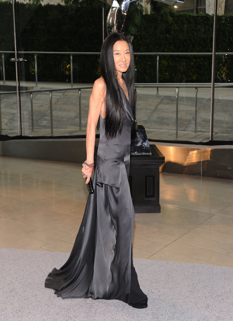 Vera Wang wore a languid silk sheath to collect her Lifetime Achievement award.