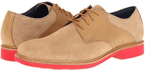 Cole Haan - Great Jones Saddle (Milkshake Suede/Cuoio Grain/Tango Red) - Footwear