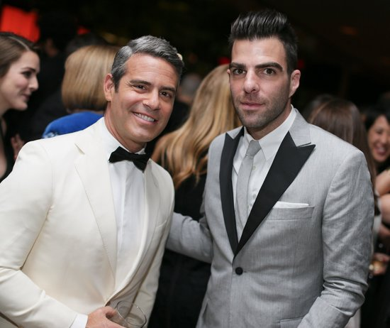 Zachary Quinto chatted with Andy Cohen. Source: Billy Farrell/BFANYC.com